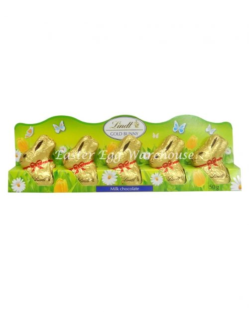 Lindt Mini Gold Bunnies 5 Pack 50g