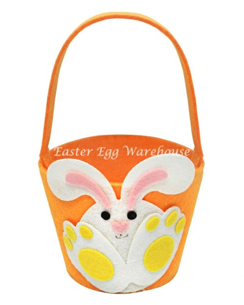 Orange Bunny Felt Bucket