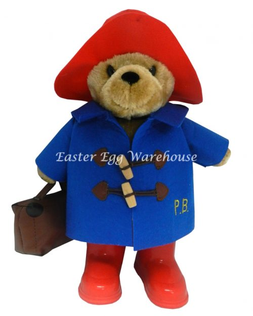 Paddington Bear with Blue coat, boots and case - 34cm