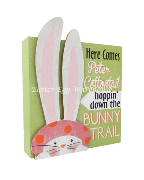 Bunny Trail Table Top Plaque