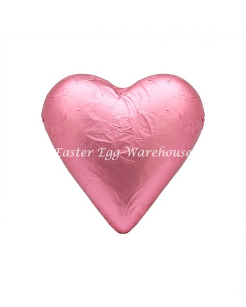 Milk Chocolate Solid Heart 100g - Pink