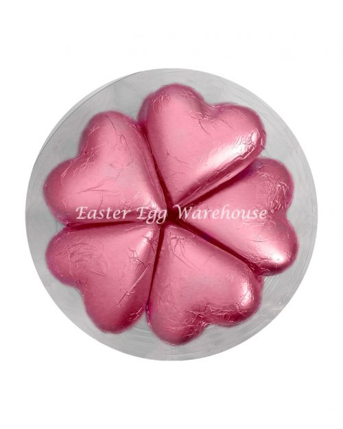 Pink Milk Chocolate Hearts - 30g x 30 Pieces