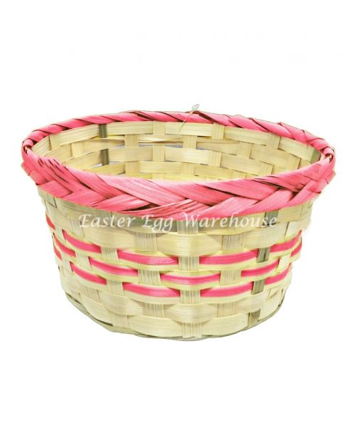 Round Easter Basket - Assorted Colours