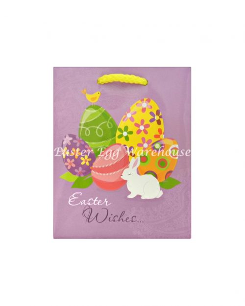 Small Easter Bag - Easter Wishes Purple