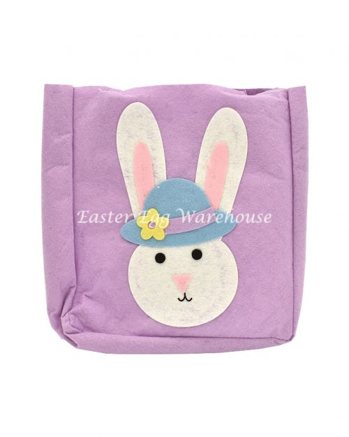 Purple Easter Felt Carry Bag