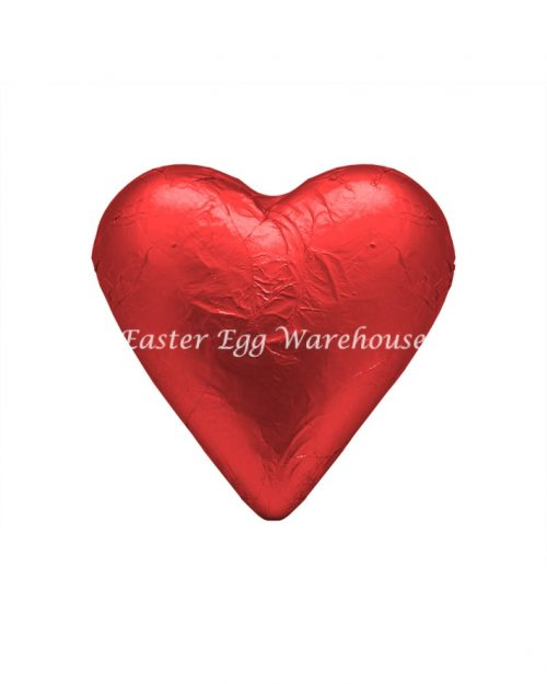 Milk Chocolate Solid Heart 100g - Red