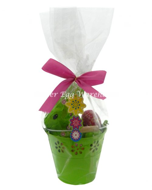 Riegelein Easter Bunny & Eggs 232g - Green Bucket