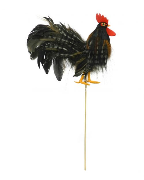Rooster on Stick - Brown