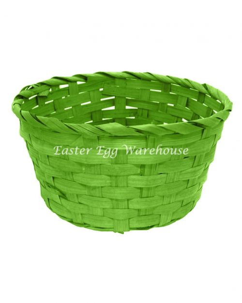 Woven Round Basket - Assorted Colours 20x10cm