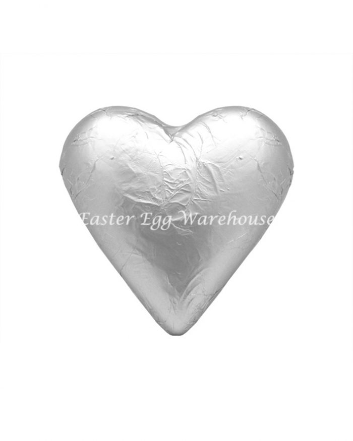 Milk Chocolate Solid Heart 100g - Silver
