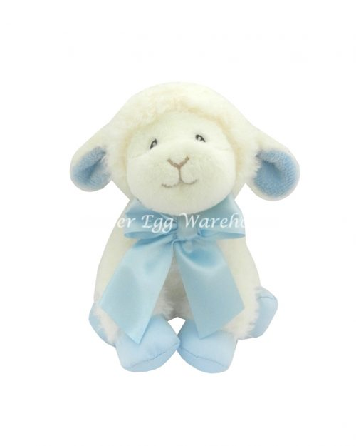 Sitting Baby Lamb Blue 24cm