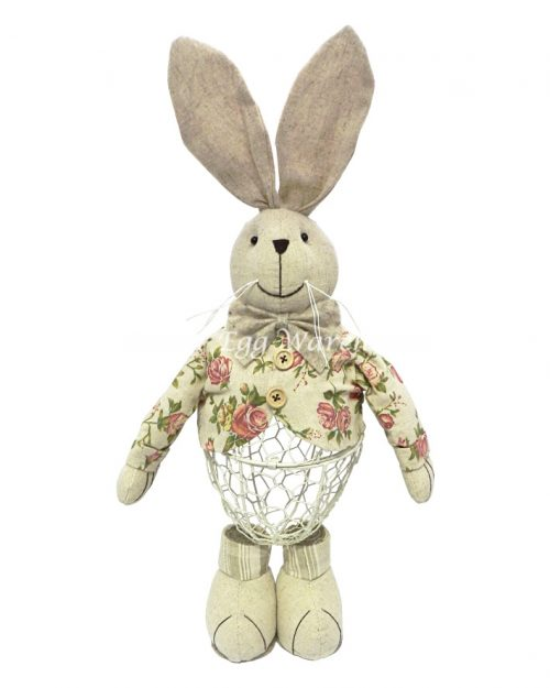 Standing Boy Bunny with Metal Base