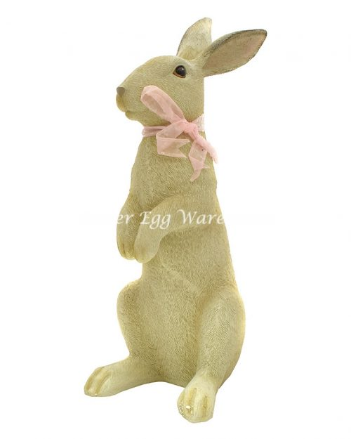 Easter Bunny with Pink Bow Decoration