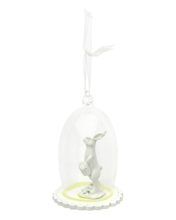 Standing Easter Bunny in Cloche 11cm