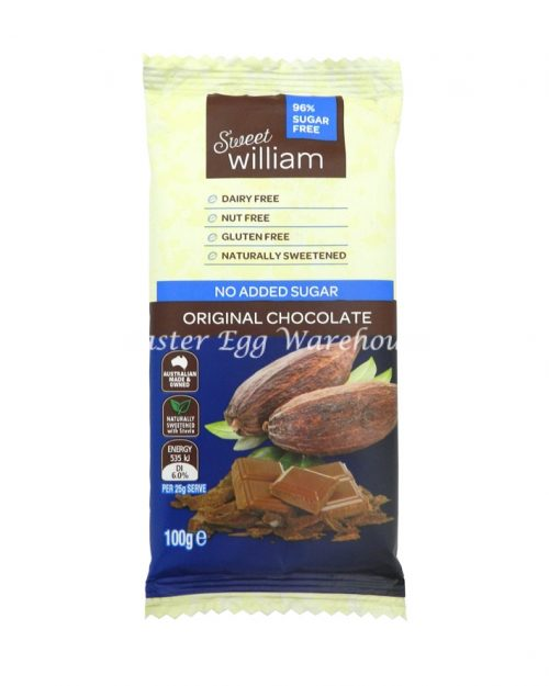 Sweet William No Added Sugar Original Chocolate 100g