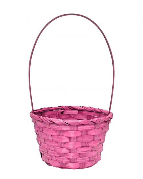 Easter Woven Basket with Handle - Medium - Assorted Colours