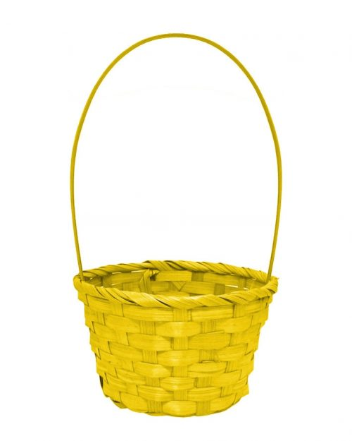 Easter Woven Basket with Handle - Large - Assorted Colours