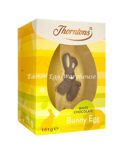 Thorntons White Chocolate Bunny Egg 151g