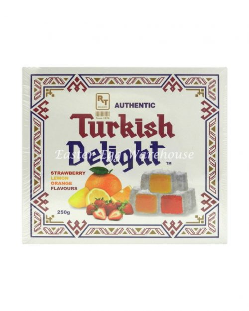 Turkish Delight Orange, Strawberry, Lemon 250g