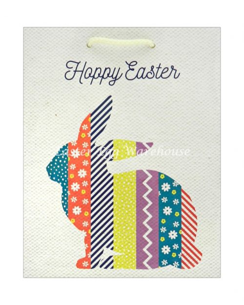 Medium Easter Bag - Colourful Bunny