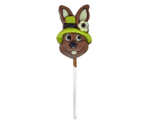 Bunny With Hat Lollipop Milk Chocolate 15g