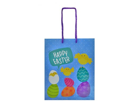 Easter Gift Bag - Blue 18x35cm