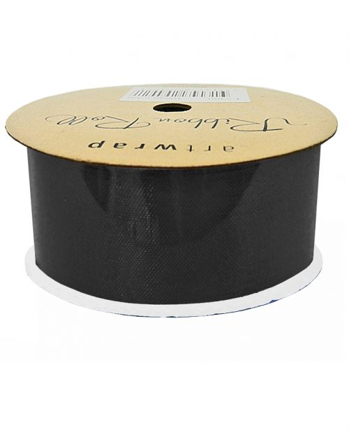Black Satin Ribbon 38mm x 4m