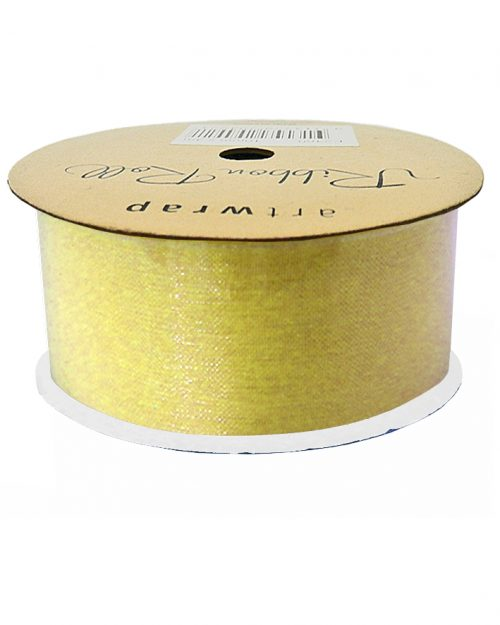 Gold Organza Ribbon 38mm x 4m