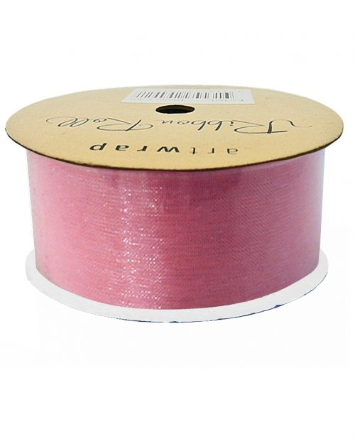 Pink Organza Ribbon 38mm x 4m