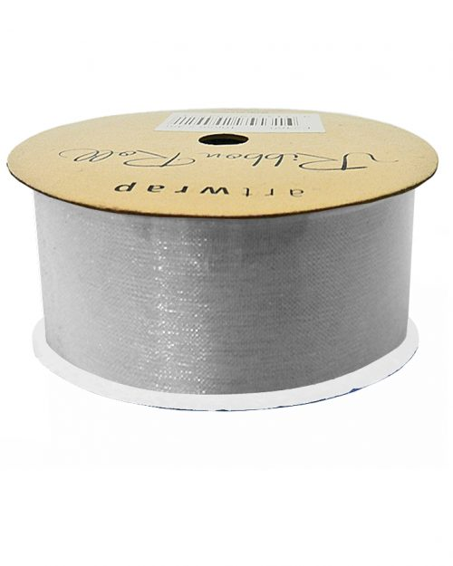 Silver Organza Ribbon 38mm x 4m