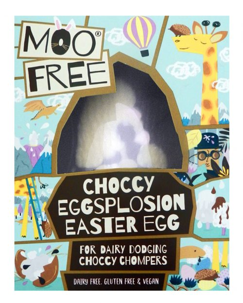 Moo Free Choccy Eggsplosion Easter Egg 80g