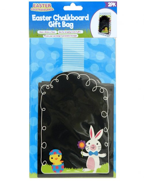 Easter Chalkboard Gift Bag blue