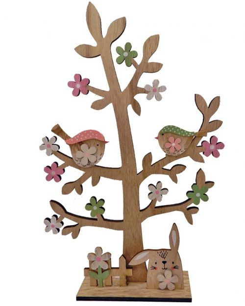 Wooden Easter Tree Decoration 39 x 26cm