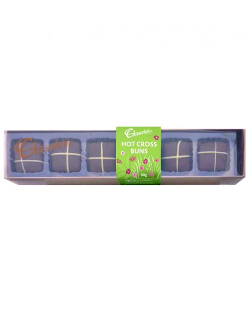 Chocolatier Sweet and Spicy Hot Cross Buns 6 pack 80g