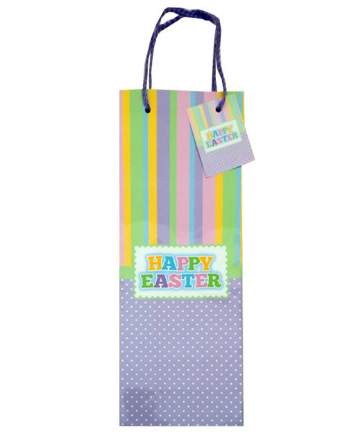 Happy Easter Wine Bag Pastel Colours